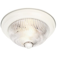 Nuvo Lighting Clear Ribbed Swirl Glass 2 Light Flush Mount in Textured White 76/027