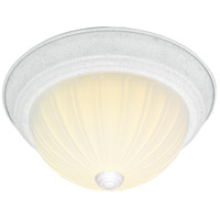 Melon Glass 2 Light 11 inch Textured White Flush Mount Ceiling Light