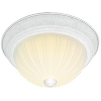 Nuvo SF76/127 Melon Glass 2 Light 13 inch Textured White Flush Mount Ceiling Light