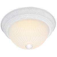 Nuvo Lighting Frosted Ribbed Glass 2 Light Flush Mount in Textured White 76/131