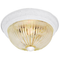 Nuvo SF76/193 Ribbed Glass 3 Light 15 inch Textured White Flush Mount Ceiling Light