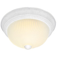 Nuvo Lighting Ribbed Swirl Glass 2 Light Flush Mount in Textured White 76/218