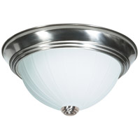 Nuvo Lighting Melon Glass 3 Light Flush Mount in Brushed Nickel 76/245