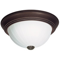 Nuvo SF76/247 Melon Glass 2 Light 13 inch Old Bronze Flush Mount Ceiling Light