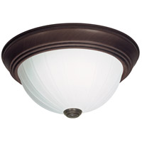 Nuvo SF76/248 Melon Glass 3 Light 15 inch Old Bronze Flush Mount Ceiling Light