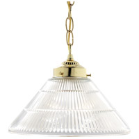 Nuvo Lighting Signature 1 Light Pendant in Polished Brass 76/255