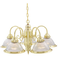 Nuvo Lighting Signature 5 Light Chandelier in Polished Brass 76/281