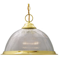 Nuvo SF76/282 Signature 1 Light 15 inch Polished Brass Pendant Ceiling Light