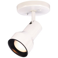 Nuvo Lighting Step Cylinder 1 Light Semi Flush Mount in White 76/400