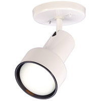 Nuvo Lighting Step Cylinder 1 Light Semi Flush Mount in White 76/406