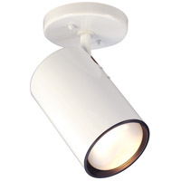 Nuvo Lighting Straight Cylinder 1 Light Semi Flush Mount in White 76/418