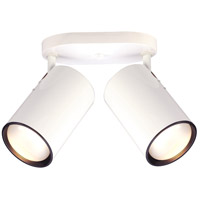 Nuvo Lighting Straight Cylinder 2 Light Semi Flush Mount in White 76/420