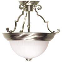 Nuvo SF76/433 Signature 2 Light 13 inch Brushed Nickel Semi Flush Mount Ceiling Light