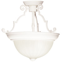Signature 2 Light 13 inch Textured White Semi Flush Mount Ceiling Light