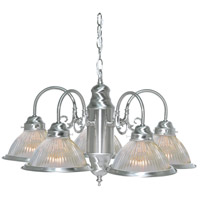 Nuvo Lighting Signature 5 Light Chandelier in Brushed Nickel 76/444
