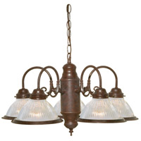 Nuvo SF76/445 Signature 5 Light 22 inch Old Bronze Chandelier Ceiling Light