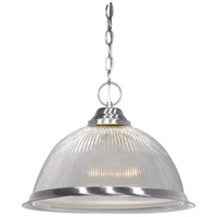 Signature 1 Light 15 inch Brushed Nickel Pendant Ceiling Light