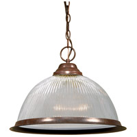 Nuvo SF76/447 Signature 1 Light 15 inch Old Bronze Pendant Ceiling Light