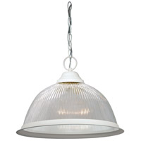 Nuvo Lighting Signature 1 Light Pendant in Textured White 76/448