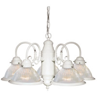 Nuvo Lighting Signature 5 Light Chandelier in Textured White 76/449