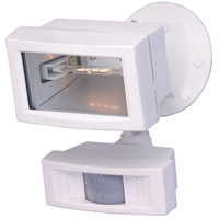 Nuvo Lighting Mini Halogen 1 Light Outdoor Flood Light with Motion Sensor in White 76/504