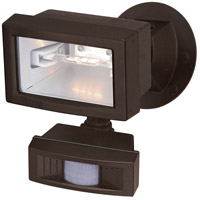 Nuvo Lighting Mini Halogen 1 Light Outdoor Flood Light with Motion Sensor in Black 76/505
