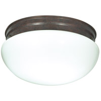 Nuvo SF76/604 Mushroom Glass 2 Light 12 inch Old Bronze Flush Mount Ceiling Light
