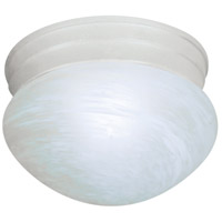 Nuvo Lighting Alabaster Mushroom Glass 1 Light Flush Mount in Textured White 76/612