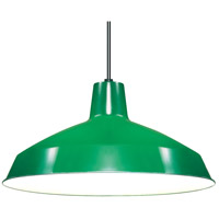 Warehouse Aluminum 1 Light 16 inch Green Pendant Ceiling Light