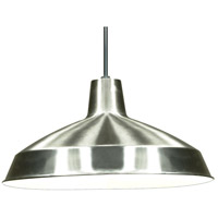 Nuvo Lighting Warehouse Aluminum 1 Light Pendant in Brushed Nickel 76/661