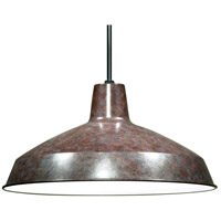Warehouse Aluminum 1 Light 16 inch Old Bronze Pendant Ceiling Light