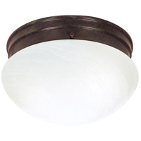 Nuvo Lighting Alabaster Mushroom Glass 2 Light Flush Mount in Old Bronze 76/673