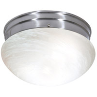 Nuvo Lighting Alabaster Mushroom Glass 2 Light Flush Mount in Brushed Nickel 76/674