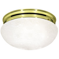 Nuvo Lighting Mushroom Glass 2 Light Flush Mount in Polished Brass 76/678