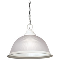 Nuvo SF76/692 Signature 1 Light 15 inch Textured White Pendant Ceiling Light
