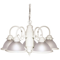 Signature 5 Light 22 inch Textured White Chandelier Ceiling Light