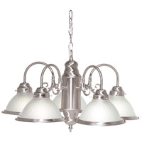 Nuvo Lighting Signature 5 Light Chandelier in Brushed Nickel 76/695
