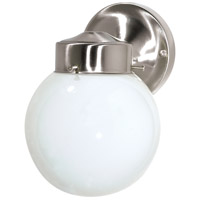Nuvo Lighting Signature 1 Light Outdoor Wall Light in Brushed Nickel 76/705