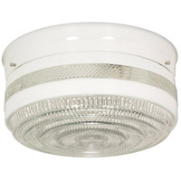 Nuvo SF77/099 Drum Glass 2 Light 10 inch White Flush Mount Ceiling Light