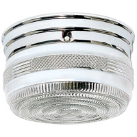 Drum Glass 2 Light 8 inch Polished Chrome Flush Mount Ceiling Light
