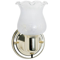 Signature 1 Light 5 inch Polished Brass Vanity Light Wall Light