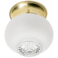 Nuvo Lighting Clear Glass 1 Light Flush Mount in Polished Brass 77/122