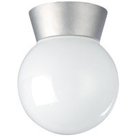 Nuvo Lighting Signature 1 Light Outdoor Ceiling Mount in Satin Aluminum 77/152