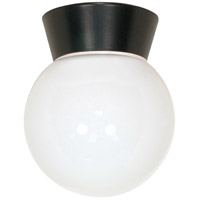 Nuvo Lighting Signature 1 Light Outdoor Ceiling Mount in Black 77/157