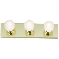 Signature 3 Light 18 inch Polished Brass Bath Light Wall Light