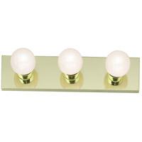 Nuvo Lighting Signature 3 Light Bath Light in Polished Brass 77/188 photo thumbnail