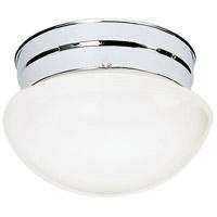 Nuvo SF77/345 Mushroom Glass 1 Light 8 inch Polished Chrome Flush Mount Ceiling Light