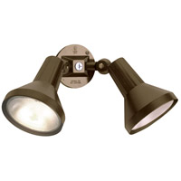 Nuvo Lighting Adjustable Swivel 2 Light Outdoor Flood Light in Dark Bronze 77/495