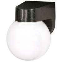 Signature 1 Light 8 inch Black Outdoor Wall Light