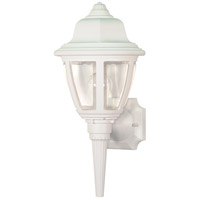 Nuvo Lighting Signature 1 Light Outdoor Wall Lantern in White SF77/805